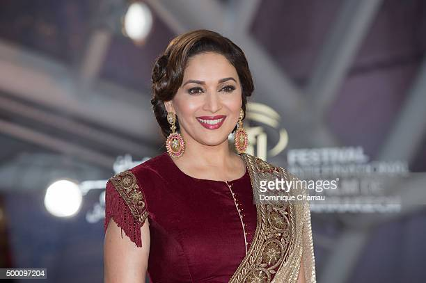 Madhuri Dixit attends the MR Holmes premiere during the15th Marrakech International Film Festival on December 5 2015 in Marrakech Morocco