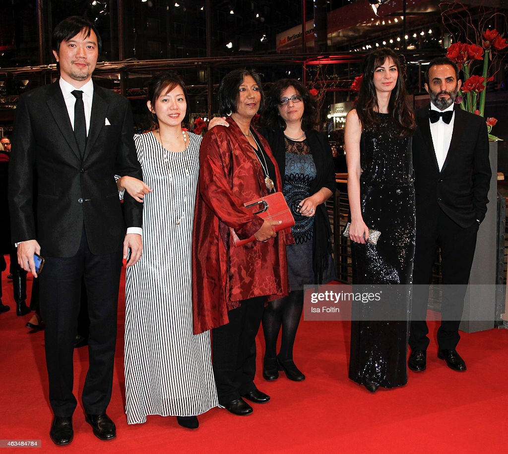 Madhusree Dutta, Wahyuni A. Had, Halil Altindere and some of the indian film team attend the Closing Ceremony of the 65th Berlinale International Film Festival on February 14, 2015 in Berlin, Germany.