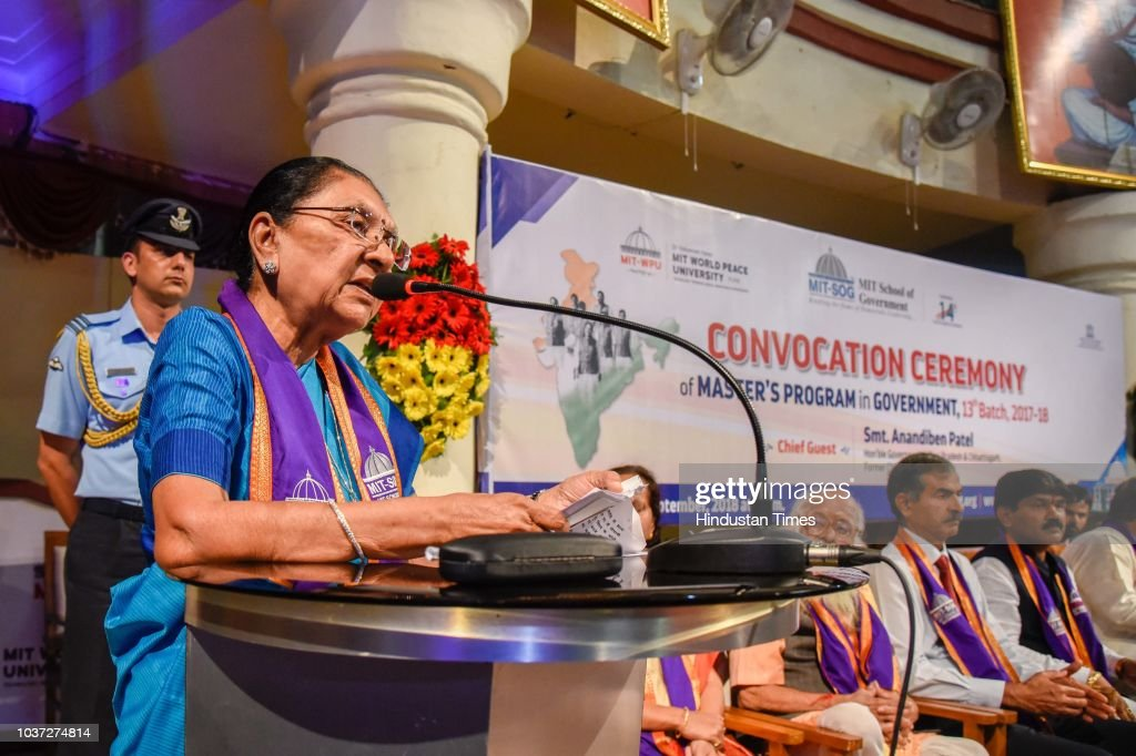Anandiben Patel Addresses Convocation Ceremony Of Masters Program In Government In Pune