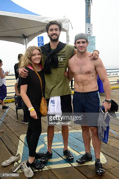 Madi McQueen Chase McQueen and Steven R McQueen attend Harold Robinson Foundation's 5th Annual Pedal On The Pier Fundraiser at Santa Monica Pier on...