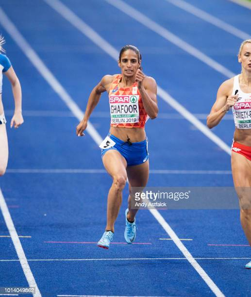 Madiea Ghafoor from The Netherlands during the Women's 400m SemiFinal on Day 3 of the European Athletics Championships at Olympiastadion on August 9...