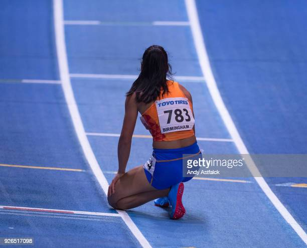 Madiea Ghafoor from the Netherlands fails to qualify for the Final of the Women's 400m on Day two of the World Indoor Championships at Arena...
