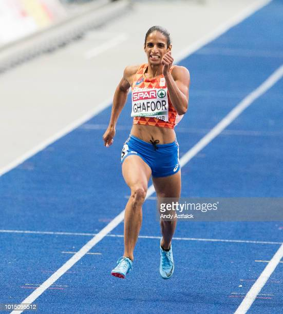 Madiea Ghafoor from the Netherlands in the Women's 400m Final on Day 5 of the 24th European Athletics Championships at Olympiastadion on August 11...
