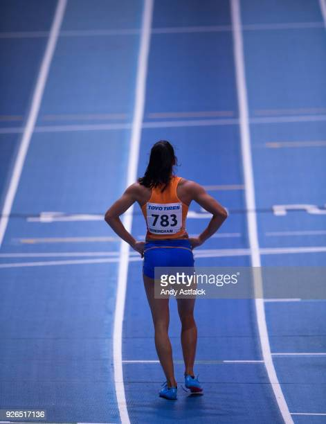 Madiea Ghafoor from the Netherlands qualifing for the Final of the Women's 400m on Day Two of the World Indoor Championships at Arena Birmingham on...