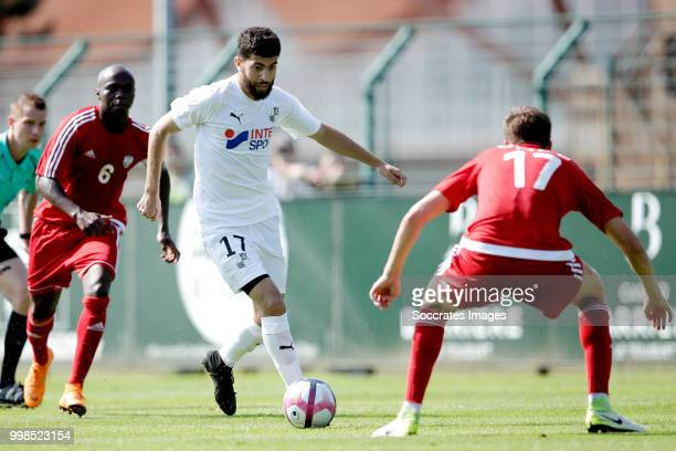 Madih Talal of Amiens SC Thomas Parada of UNFP FC during the Club Friendly match between Amiens SC v UNFP FC at the Centre Sportif Du Touquet on July...