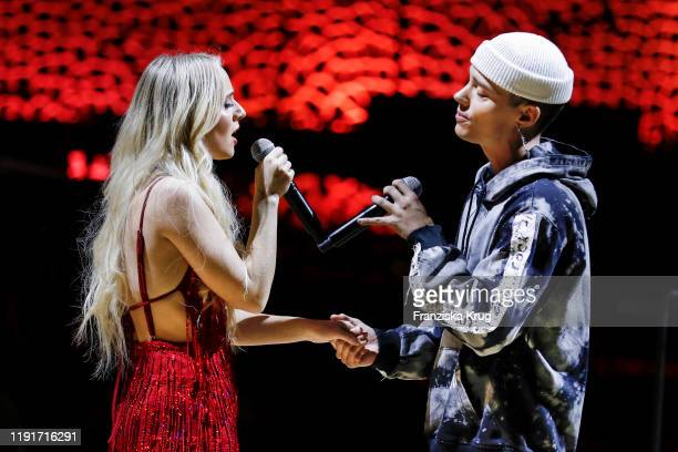 Madilyn Bailey and Leroy Sanchez during the Channel Aid Live in concert at Elbphilharmonie on January 4 2020 in Hamburg Germany