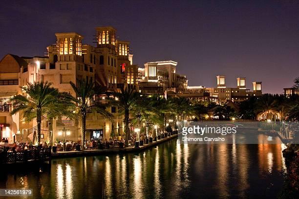 Madinat Al Jumeirah Arab City Scene at Night