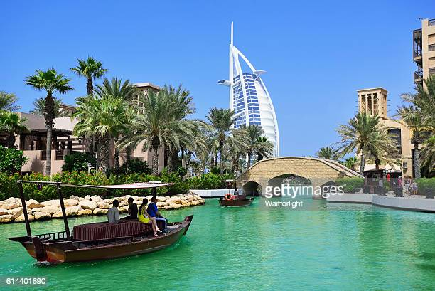 Madinat Jumeirah and the Burj al Arab Hotel in Dubai