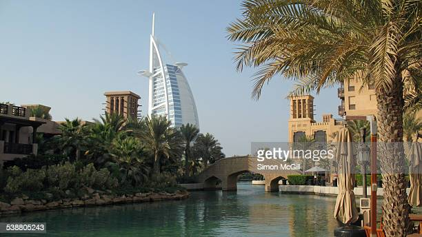 Madinat Jumeirah Arabian resort with Burj Al Arab in the background Jumeirah Dubai United Arab Emirates