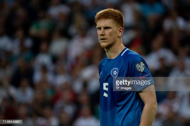 Madis Vihmann of Estonia looks on during the UEFA Euro 2020 Qualifier match between Germany and Estonia at Opel Arena on June 11 2019 in Mainz Germany