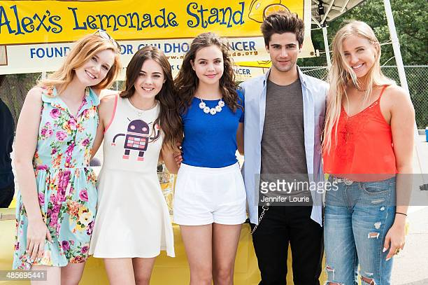 Madisen Beaty Ava Allen Bailee Madison Max Ehrich and Veronica Dunne volunteer at Alex's Lemonade Stand at Kids Helping Kids Benefit Concert and Fair...