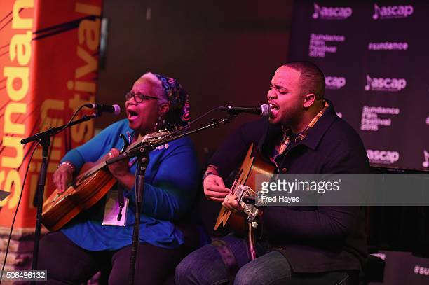 Madisen Ward and the Mama Bear perform at the ASCAP Music Cafe during the 2016 Sundance Film Festival at Sundance ASCAP Music Cafe on January 23 2016...