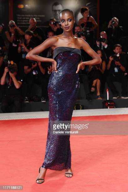 """Madisin Rian walks the red carpet ahead of the """"Seberg"""" screening during the 76th Venice Film Festival at Sala Grande on August 30, 2019 in Venice,..."""