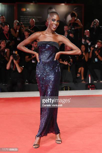 "Madisin Rian walks the red carpet ahead of the ""Seberg"" screening during the 76th Venice Film Festival at Sala Grande on August 30, 2019 in Venice,..."