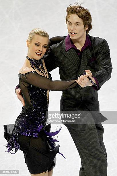 Madison and Keiffer Hubbell compete in the Championship Dance Short Dance during the US Figure Skating Championships at the Greensboro Coliseum on...