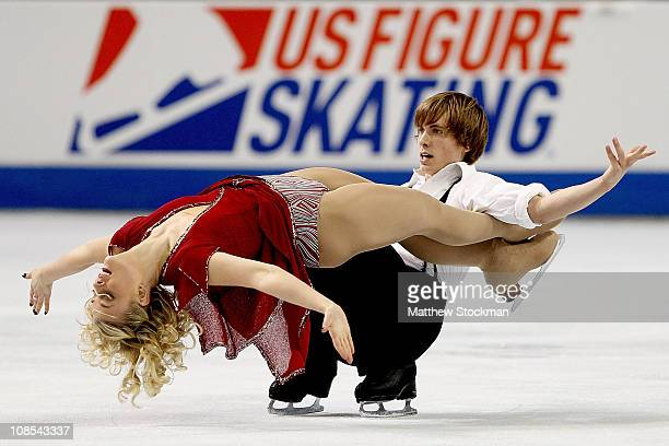 Madison and Keiffer Hubbell compete in the Championship Free Dance during the US Figure Skating Championships at the Greensboro Coliseum on January...