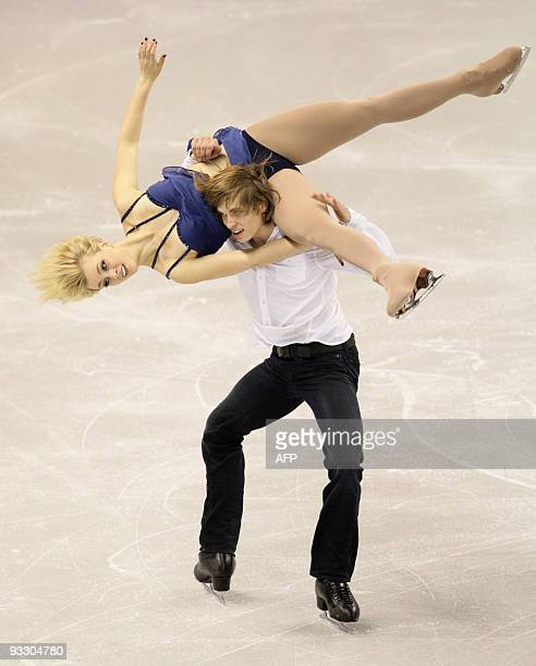Madison and Keiffer Hubbell of the US perform their free dance in the ice dance competition at the 2009 Homesense Skate Canada International in...