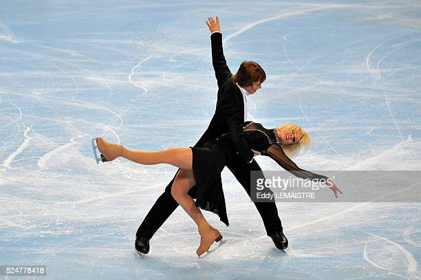 Madison and Keiffer Hubbell of United States during the ice dance compulsory dance golden waltz event of the Eric Bompard Figure Skating trophy on...