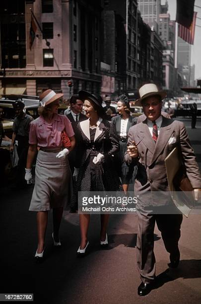 Madison Avenue advertising executive makes a client visit circa 1950 in New York City New York