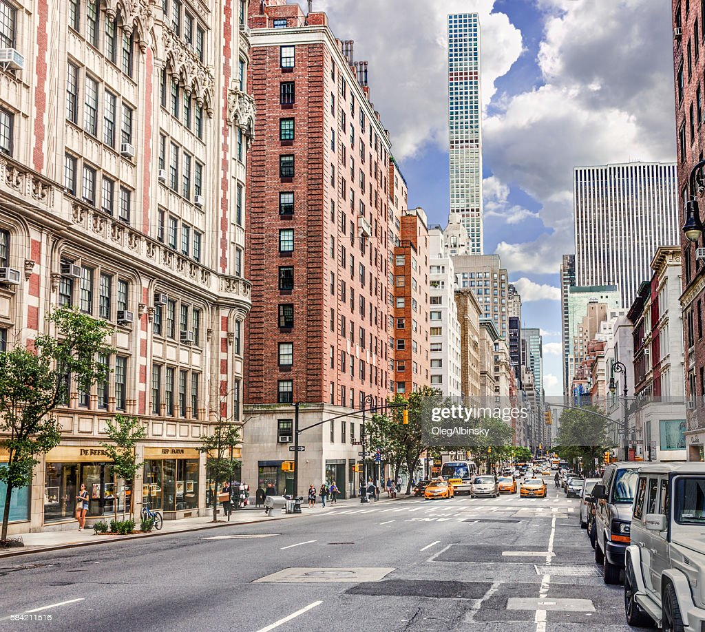 Madison Avenue, Manhattan Upper East Side, New York. : ストックフォト