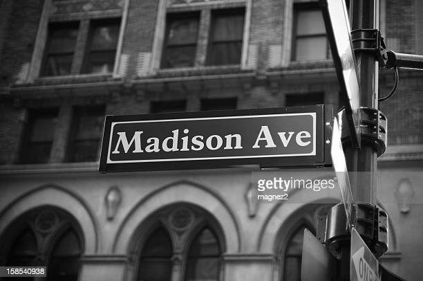 madison avenue - madison avenue stock pictures, royalty-free photos & images
