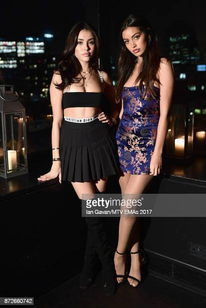 Madison Beer and Cindy Kimberly attend the It Girls and MTV EMA Correspondents Dinner held at The Ace Hotel ahead of the MTV EMAs 2017 on November 10...