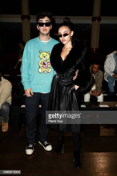 Madison Beer and her boyfriend Zack Bia attend the Amiri Paris Menswear Fall/Winter 20192020 show as part of Paris Fashion Week on January 18 2019 in...