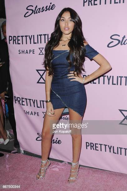 Madison Beer arrives at PrettyLittleThing Campaign Launch For PLT SHAPE With Brand Ambassador Anastasia Karanikolaou on April 11 2017 in Los Angeles...