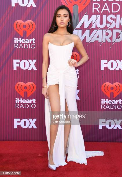 Madison Beer arrives at the 2019 iHeartRadio Music Awards which broadcasted live on FOX at Microsoft Theater on March 14 2019 in Los Angeles...