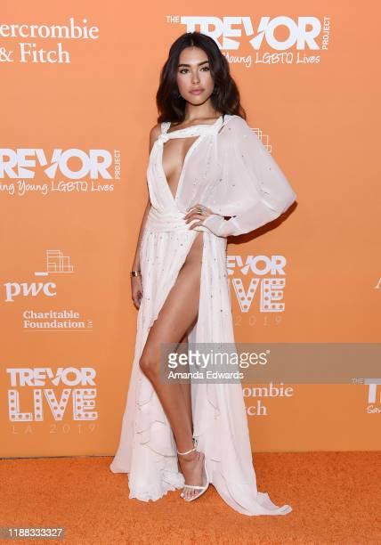Madison Beer arrives at the 2019 TrevorLive Los Angeles Gala at The Beverly Hilton Hotel on November 17, 2019 in Beverly Hills, California.