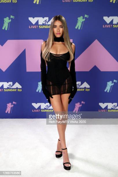 Madison Beer attends the 2020 MTV Video Music Awards, broadcast on Sunday, August 30, 2020 in New York City.