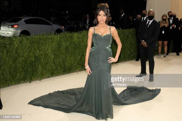 Madison Beer attends The 2021 Met Gala Celebrating In America: A Lexicon Of Fashion at Metropolitan Museum of Art on September 13, 2021 in New York...