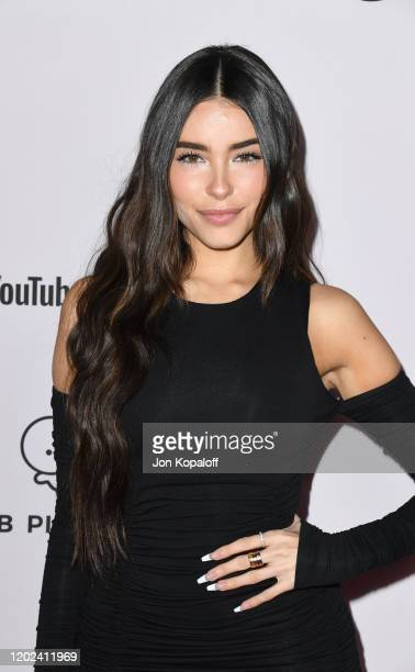 "Madison Beer attends the premiere of YouTube Originals' ""Justin Bieber: Seasons"" at Regency Bruin Theatre on January 27, 2020 in Los Angeles,..."