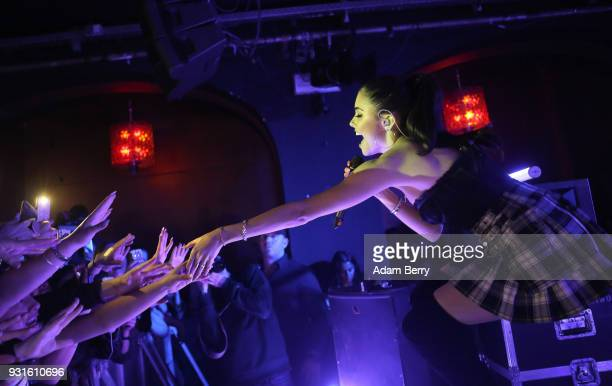 Madison Beer performs during a concert at Bi Nuu on March 13 2018 in Berlin Germany