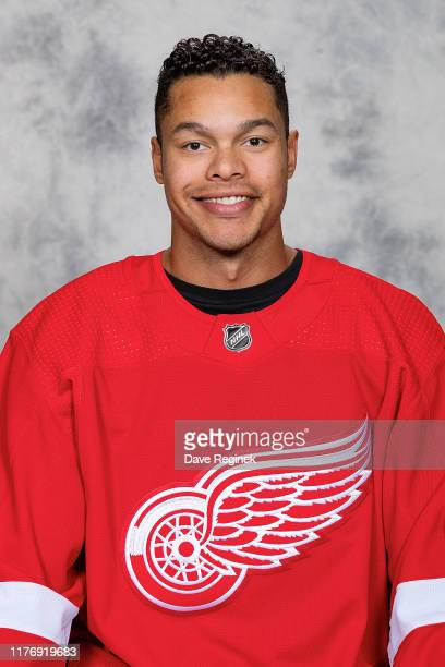 Madison Bowey of the Detroit Red Wings poses for his official headshot for the 20192020 season at Center Ice Arena on September 12 2019 in Traverse...
