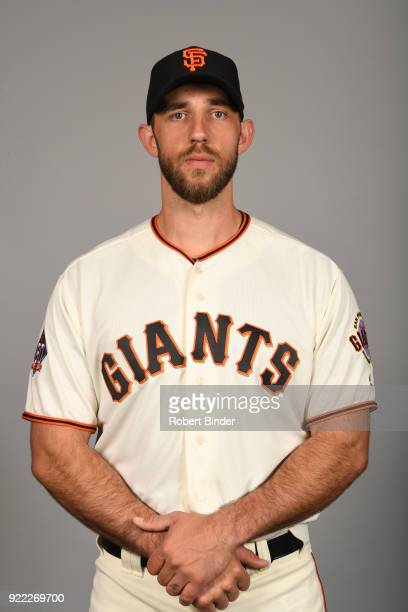 Madison Bumgarner of the San Francisco Giants poses during Photo Day on Tuesday February 20 2018 at Scottsdale Stadium in Scottsdale Arizona