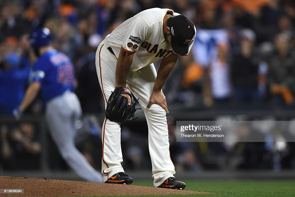 Division Series - Chicago Cubs v San Francisco Giants- Game Three : News Photo