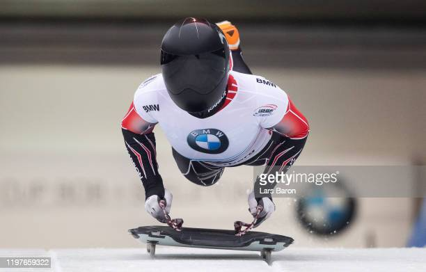 Madison Charney of Canada competes during the BMW IBSF Skeleton World Cup at Veltins Eis-Arena on January 05, 2020 in Winterberg, Germany.