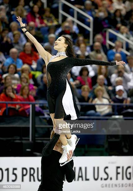 Madison Chock and Evan Bates compete in the Championship Free Dance Program Competition during day 3 of the 2015 Prudential US Figure Skating...