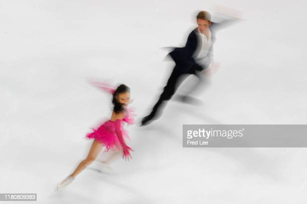 Madison Chock and Evan Bates of the United States compete in the Ice Dance Rhythm Dance during the ISU Grand Prix of Figure Skating Cup of China at...
