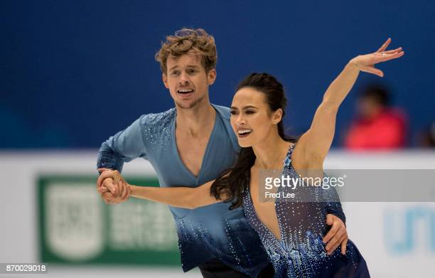 Madison CHOCK and Evan BATES of the United States compete in the Ice Dance Free Dance on day two of Audi Cup of China ISU Grand Prix of Figure...