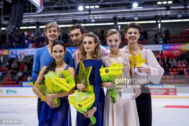Madison Chock and Evan Bates of the United States Gabriella Papadakis and Guillaume Cizeron of France Alexandra Stepanova and Ivan Bukin of Russia...