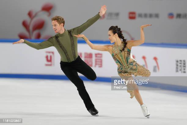 Madison Chock and Evan Bates of the United States performs Ice Dance Free Dance during the ISU Grand Prix of Figure Skating Cup of China Day 2 at...