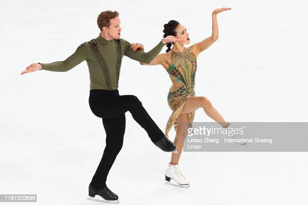 Madison Chock and Evan Bates of the United States performs in the Ice Dance-Free Dance during the ISU Grand Prix of Figure Skating Cup of China at...