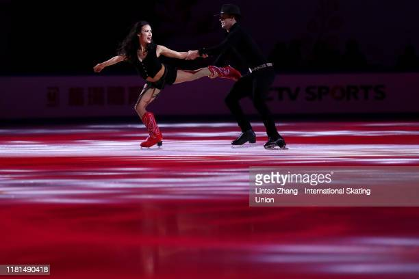 Madison Chock and Evan Bates of the United States performs in the Gala Exhibition during day three of the ISU Grand Prix of Figure Skating Cup of...