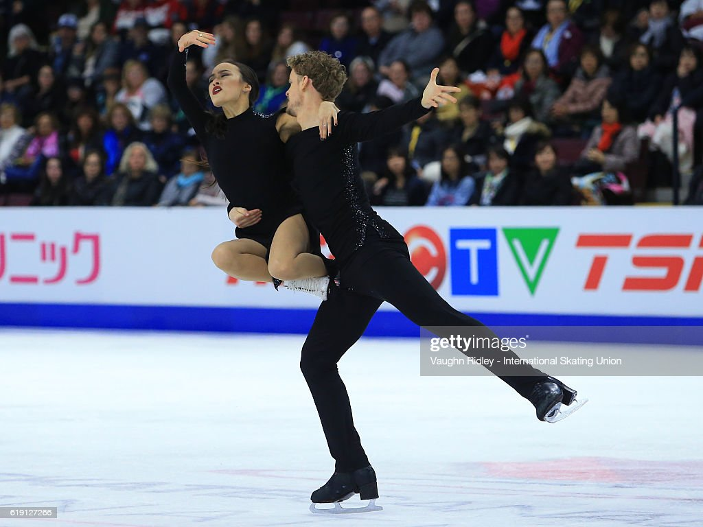 Madison Chock and Evan Bates of the USA compete in the Ice Dance Free Program during the ISU Grand Prix of Figure Skating Skate Canada International at Hershey Centre on October 29, 2016 in Mississauga, Canada.