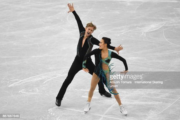 Madison Chock and Evan Bates of the USA compete in the Ice dance short dance during the ISU Junior Senior Grand Prix of Figure Skating Final at...