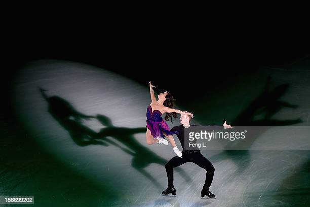 Madison Chock and Evan Bates of United States perform during Lexus Cup of China ISU Grand Prix of Figure Skating 2013 at Beijing Capital Gymnasium on...