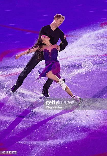 Madison Chock and Evan Bates of USA during the Gala Exhibition during ISU Rostelecom Cup of Figure Skating 2013 on November 24 2013 in Moscow Russia