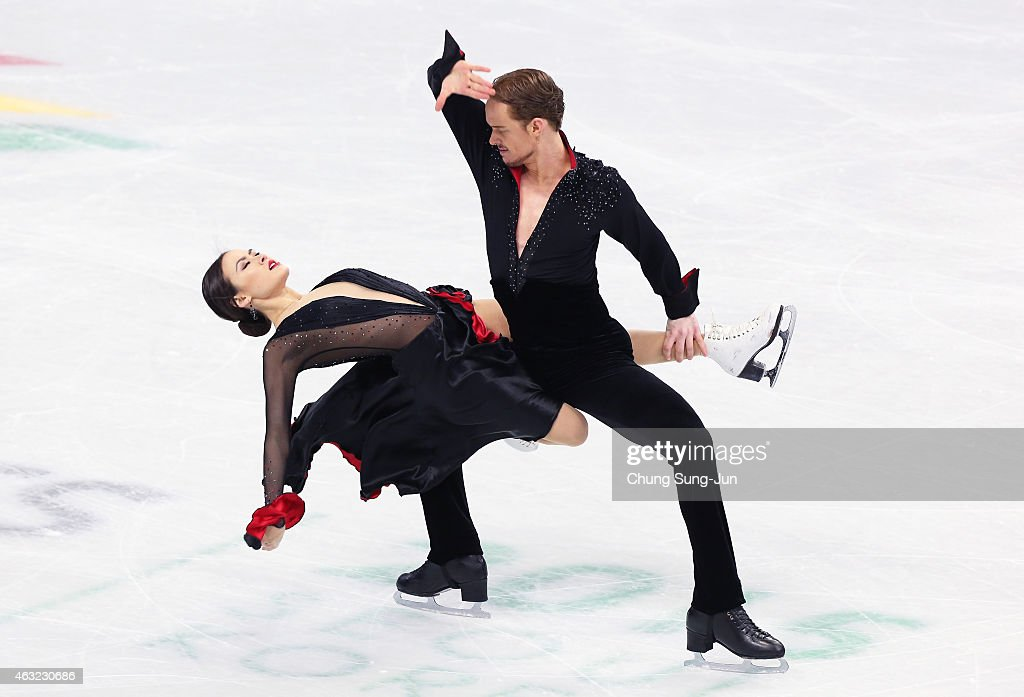 Madison Chock and Evans Bates of United States performs during the Ice Dance Short Dance on day one of the ISU Four Continents Figure Skating Championships 2015 at the Mokdong Ice Rink on February 12, 2015 in Seoul, South Korea.